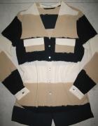 ZARA elegancka koszula damska z kieszeniami oversize roz 34