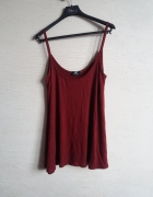 burgundowa ciemna luźna koszulka XL