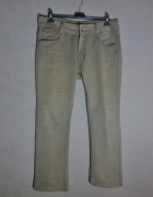 Beżowe elastyczne jeansy z prostą nogawką 44 46