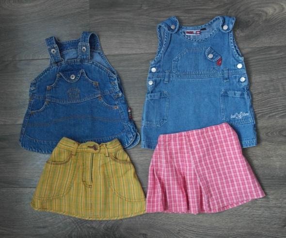 Cztery spódniczki dla dziewczynki 68 92
