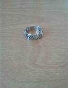 Srebrny pierścionek obrączka ażurowy wzorek srebro rozmiar 9 153mm
