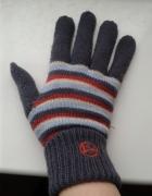 Nowe rękawiczki zimowe Diverse szare paski