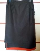 brązowa spódnica długa 44...