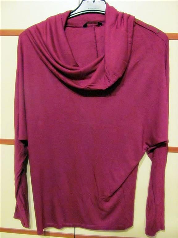 Bluzki bawełniana bluzka M L kolor buraczkowy