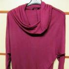 bawełniana bluzka M L kolor buraczkowy