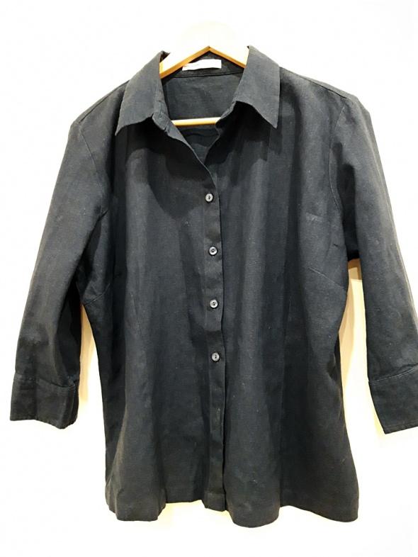 Koszule granatowa koszula narzutka 48