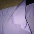 Jasno fioletowa elegancka koszula z kołnierzykiem