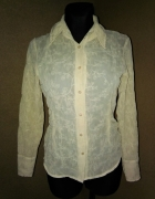 Beżowa elegancka koszula mgiełka 34 36