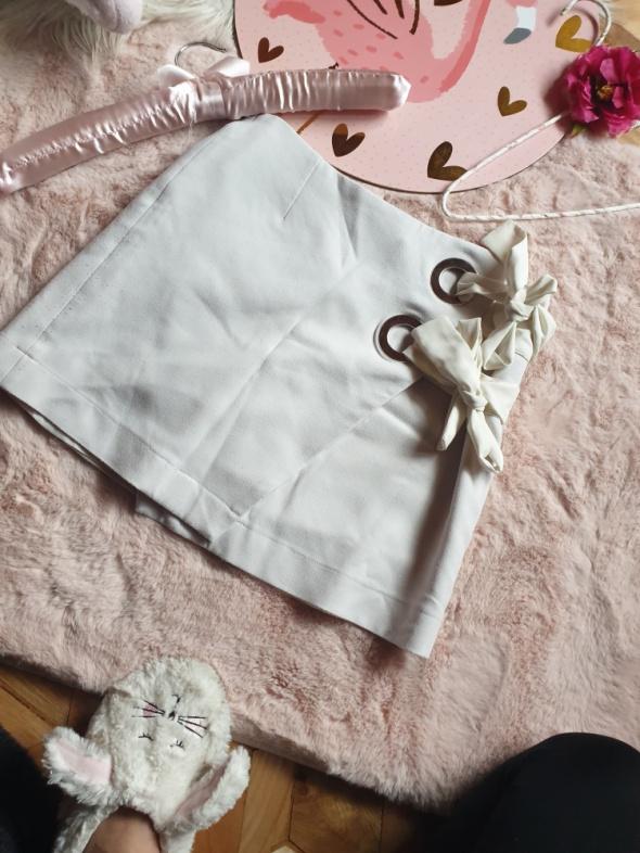 Spódnice Biała Mini wiązana