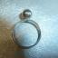 pierścionek srebrny z kuleczką