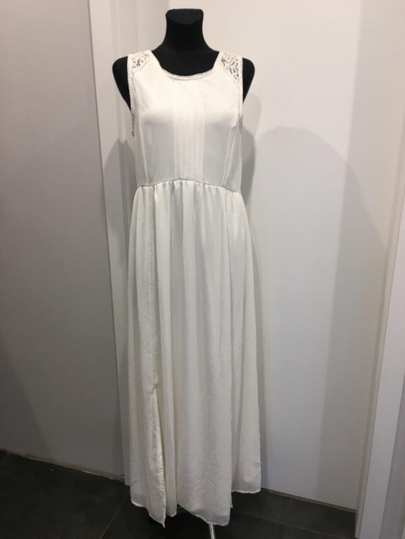 Długa biała sukienka S na M...