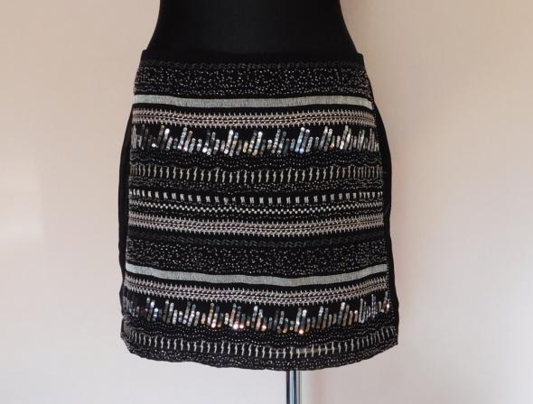 Spódnice H&M spódnica mini cekiny czarna 40