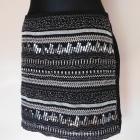 H&M spódnica mini cekiny czarna 40