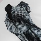 F&F bluzka mgiełka czarna biała groszki 38 40