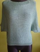 Miętowy sweterek oversize...