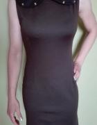 Elegancka sukienka z kołnierzykiem...