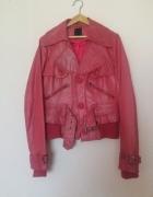 Czerwona skórzana kurtka ramoneska Vero Moda...