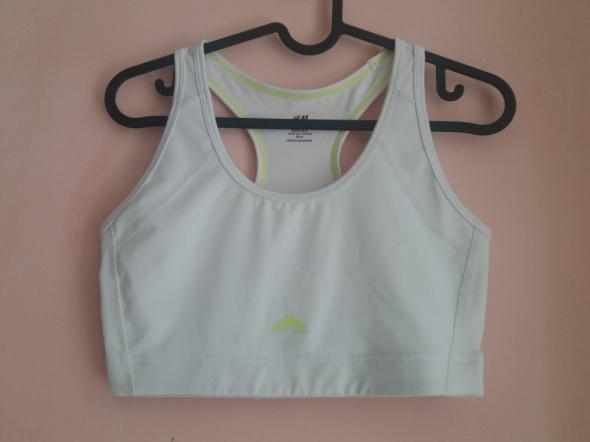 biały top sportowy H&M bieganie siłownia
