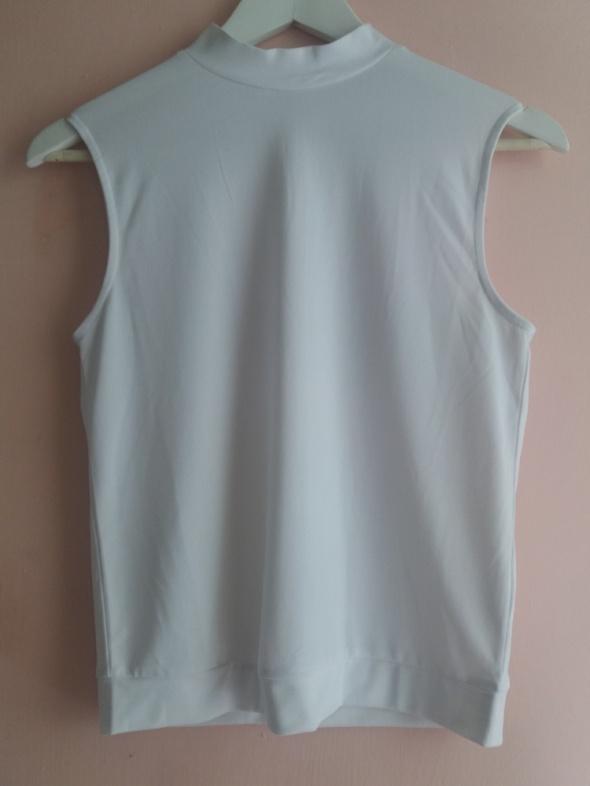 Biała bluzka ze stójką Cubus XS