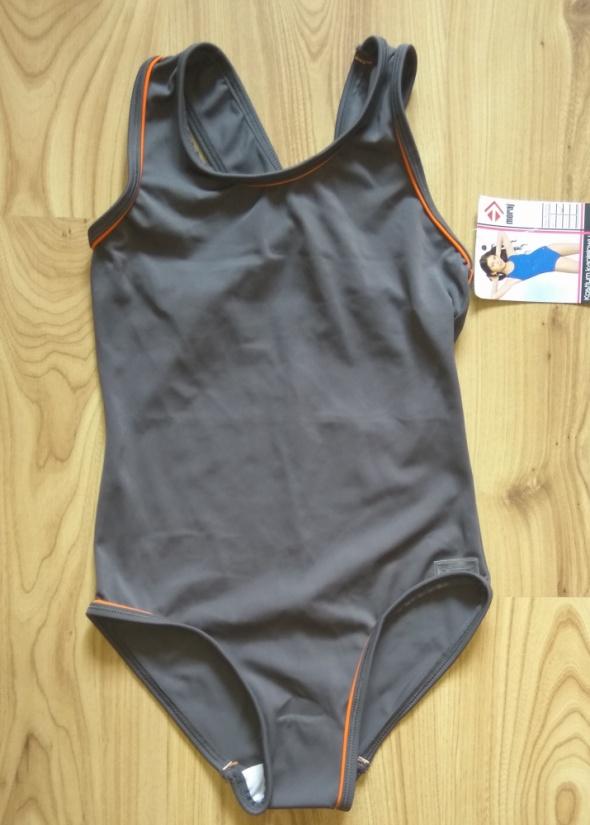 Nowy jednoczęściowy sportowe srój kąpielowy dziewczęcy 128 134
