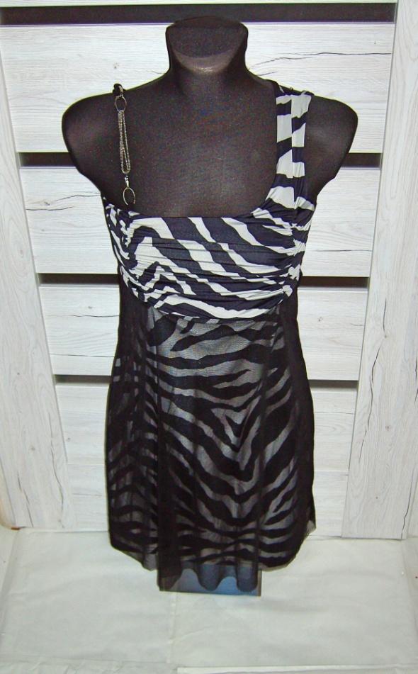 Suknie i sukienki Sukienka szara zebra S M