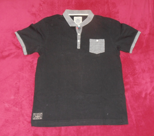Elegancka koszulka polo kontrastowe wstawki Brookhaven L
