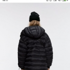ZARA kurtka pikowana czarna długa L 40
