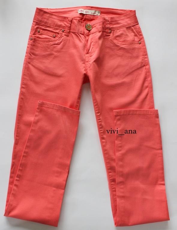 NOWE spodnie rurki pastelowe S