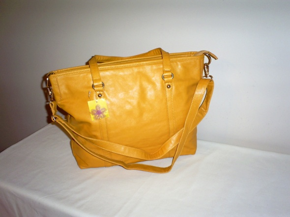 Nowa żółta torebka z długim paskiem