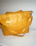 Nowa żółta torebka z długim paskiem...