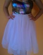 Biała sukienka z motywem Galaxy S Paprika NOWA