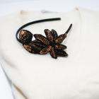 Opaska na włosy glowe retro vintage cekiny kwiaty wianek