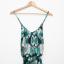 Guess Zielona sukienka zwiewna asymetryczna