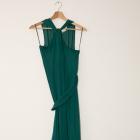 Sukienka Oysho butelkowa zielen piekna dluga zwiewna