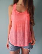 Neonowy różowy top New Look 38 M 36 S koszulka