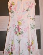 Biała sukienka w kwiaty XS...