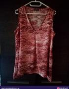 Czerwono biała bluzka M L