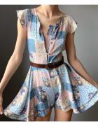Kombinezon krótki kolorowy vintage pastelowy 154 cm