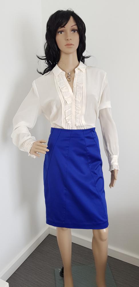 Spódnice Niebieska chabrowa spódnica marki H&M