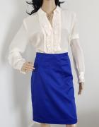Niebieska chabrowa spódnica marki H&M...
