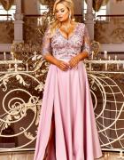 Maxi sukienka różowa S M L XL XXL XXXL 48 50 52 54...