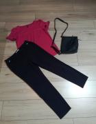 Elegancki zestaw do pracy spodnie i tunika z guzikami...