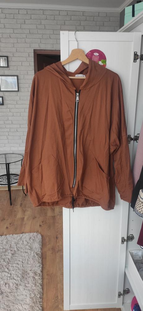 Bluza oversize karmelowa brązowa
