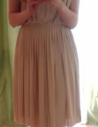 Sukienka pudrowy róż H&M...