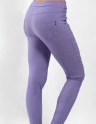 Elastyczne spodnie do kostek lawendowe XS S M L...