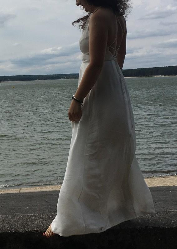 sukienka maxi wiązana na pleach asos długa...