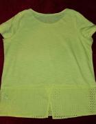 Rewelacyjna żółta bluzka ażurowa wstawka Marks & spencer 44...