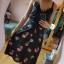 Czarna spódnica w kwiaty Atmosphere Midi