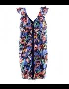 Kolorowa sukienka falbanki H&M 42...