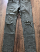 H&M tapered leg slim fit jeans khaki olive...